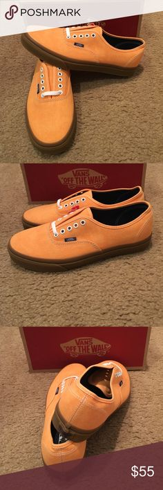 Washed Canvas Authentic Vans New in box. Citrus/Gum Vans Shoes Sneakers