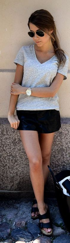 Birkenstock Black Women's Leather Summer Slippers by Mariannan