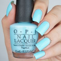 opi i believe in manicures swatch opi breakfast at tiffany's collection swat. opi i beli Opi Nails, Nail Manicure, Gel Nail, Tiffany Blue Nails, Opi Nail Colors, Opi Blue Nail Polish, Wedding Nail Polish, Nail Lacquer, Nagel Blog