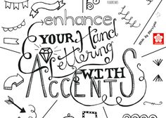 Hand lettering is all about turning words into art. This tutorial will show you some ideas for basic accents that can enhance your work. Plus: free Hand Lettering Accents printable!