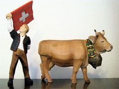 Hand carved iconic figures from Brienz, Switzerland