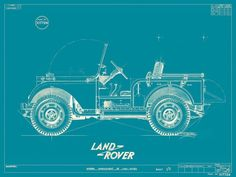 "menskit: ""Blueprint of the original Landrover """