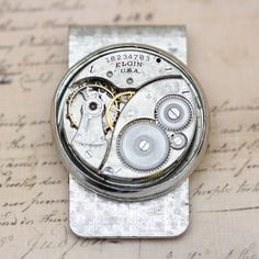 Money Clip Father's Day Gift For Him Unique Steampunk Dad Scroll  - OOAK -  Mad Men For Him by inspiredbyelizabeth on Etsy