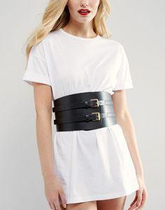 Double Buckle Wide Waist Belt