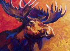 Moose Painting - Noble Pause by Marion Rose Canvas Art Prints, Framed Art Prints, Canvas Wall Art, Moose Decor, Rose Art, Wildlife Art, Animal Paintings, Rose Paintings, Portrait