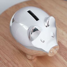 748b3ce8ee8b Silver Plated Traditional Piggy Money Bank | Christening Gifts | A1 Gifts