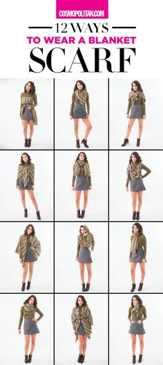 How to Tie a Blanket Scarf - 12 Ways to Wear a Blanket Scarf