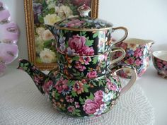 Chintz. Chelsea stacking teapot