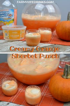 Orange Punch – Creamy Orange Sherbet Punch Orange punch can be the sweet combination of orange sherbet, vanilla ice cream with orange Hawaiian Punch and a bit of Sprite to give it a little fizz to create this fun creamy orange sherbet punch. Orange Sherbert Punch, Sherbert Punch Recipes, Party Punch Recipes, Blue Punch, Orange Sherbet Recipe, Fall Punch Recipes, Best Punch Recipe, Orange Creamsicle, Fall Recipes