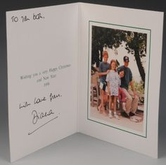 Diana's 1996 Christmas card with William, Harry, Beatrice and Eugenie