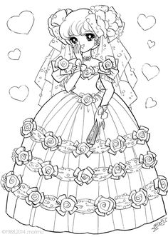 shojo nurie happy time coloring pages