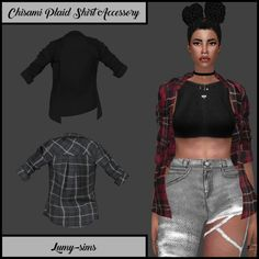 Chisami Plaid Shirt Accessory at Lumy Sims • Sims 4 Updates
