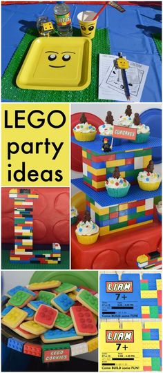 What a fun Lego party with so many great ideas! See more party ideas at CatchMyParty.com!