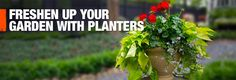 Freshen up your garden with planters