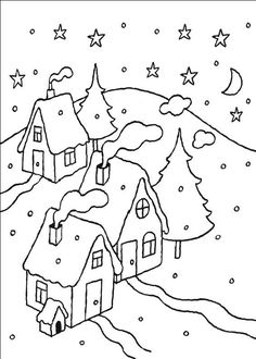 how to draw a winter scene step 6 | drawing | Pinterest | Drawings ...