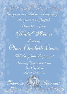 Dreams Do Come True Bridal Shower Invitation door UtopianSociety
