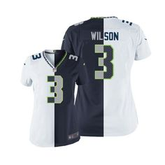 Get Official Women s Nike Seattle Seahawks 3 Russell Wilson Game Team Road  Two Tone NFL 5e61fb725