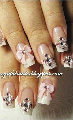 Stunning Rhinestone Nail Art Designs ♥ Great for that Special Day!