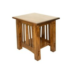 McCoy Mission Style Brown Maple 20 Inch End Table in Vintage Antique Finish Small and true, the McCoy fits your living room perfectly. Solid wood and handcrafted in choice of wood and stain. Available in 3 sizes. #endtable #accenttable #livingroom