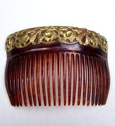 Antique hair comb Victorian comb hair accessory by ElrondsEmporium