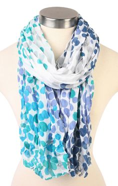 Deb Shops colorful dotted pattern scarf