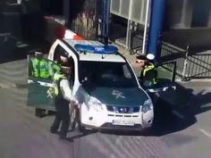 Stolen Spanish Guardia Civil car stopped trying to cross Gibraltar border
