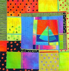 Quenching Rain art quilt by Melody Johnson