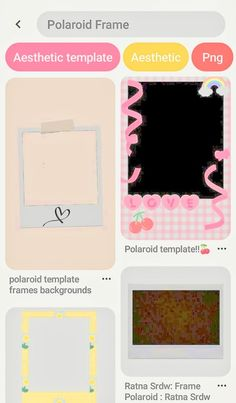 Picture Templates, Photo Collage Template, Aesthetic Names, Aesthetic Vintage, Overlays, Bts V Gif, Polaroid Template, Polaroid Frame, Aesthetic Template