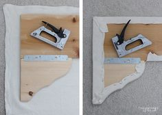 DIY Simple Cornice Box Tutorial- simple scallop created using purchased wood brackets attached to a plain board