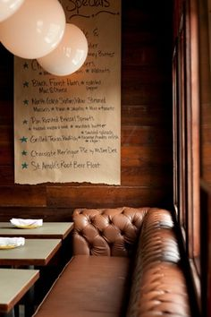 use of butchers paper for specials - daily tasting notes Restaurant Identity, Restaurant Concept, Cafe Restaurant, Restaurant Design, Restaurant Ideas, Booth Seating, Banquette Seating, Gastro Pubs, Pub Design