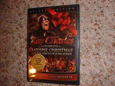 RAY CHARLES A GOSPEL CHRISTMAS DVD & BONUS CD SET (COLLECTORS ED) *NEW SEALED!*