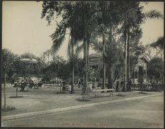 """Jardim da Luz : Kiosque da """"Bavaria"""" Gaensly, Guilherme, 1843-1928 ([1902?])"""