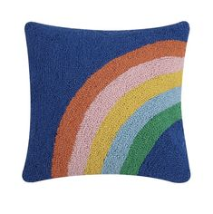 Rainbow Bedding, Knit Pillow, Decorative Pillow Cases, Cotton Velvet, Punch Needle, Quilt Sets, Cute Crochet, Rug Hooking, Designer Throw Pillows