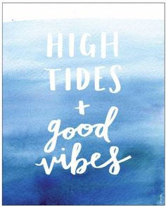Sand me to the sea. Bring the ocean to your room with a print that's as relaxing and peaceful as a day at the beach. The High Tides and Good Vibes message is almost as calming as the complementing omb Summer Quotes, Beach Quotes, Ocean Quotes, Lyric Quotes, Motivational Quotes, Beach Dorm, Beach Condo, Beach House, Dog Beach