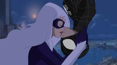 To steal a kiss Spiderman And Spider Gwen, Spiderman Black Cat, Black Cat Marvel, Spiderman Movie, Amazing Spiderman, Marvel Gif, Marvel Heroes, Deadpool Art, Animated Man