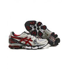 $108.81 for 2012 ASICS GEL KINSEI 2 Top Running Shoes White Red Black