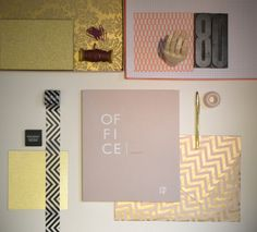 mood with a catalog of office furniture designed by rmdesignstudio. #pink #gold #black #mood