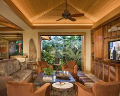 Tropical Media Room Design, Pictures, Remodel, Decor and Ideas