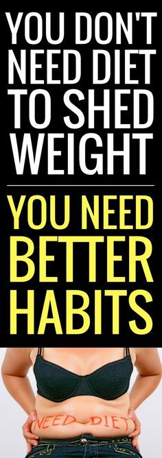 You Don't Need Diet To Shed Weight. You Need Better Habits.#bestwaytoloseabdominalfat