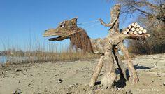 Driftwood art in Hungary by Tamas Kanya by tom-tom1969.deviantart.com on @DeviantArt