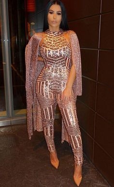 Bling bling bling ~ show your best side #sequin #jumpsuit #maykool