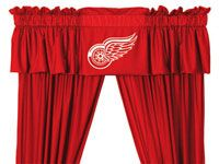 Detroit Red Wings Window Valance from Team Sports. Click now to shop NHL Home Window Treatments.