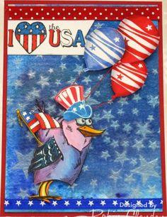 crazy birds - patriotic