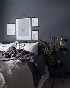 Soverom - Lilly is Love Bedroom Color Schemes, Bedroom Colors, Cozy Bedroom, Bedroom Decor, Modern Interior, Interior Design, Master Bedroom Makeover, New Room, Home Decor Inspiration