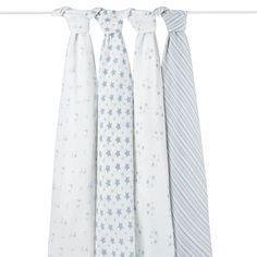 Le pack de 4 Maxi Langes Prince Charming d'Aden & Anais, en mousseline de coton 100%, de 120 x 120 cm, va vous permettre, dès la naissance, de couvrir et #emmailloter votre bébé. #lange #bébé #langer #Aden&Anaïs #maxilange #bavoirs #langebébé #bavoir #emmaillotage #couverture #poussette #change #AdenetAnais #AdenAnais #PrinceCharming #bleu