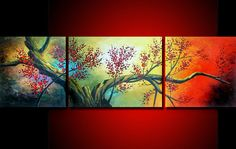 three pieces Large Modern Abstract Art Oil Painting Wall Decor canvas NO frame