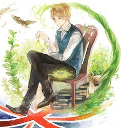 Hetalia (ヘタリア) - England/The United Kingdom (イギリス) All Anime, Anime Art, Anime Guys, Hetalia England, Hetaoni, Hetalia Characters, Kingdom Of Great Britain, Kaichou Wa Maid Sama, Usuk