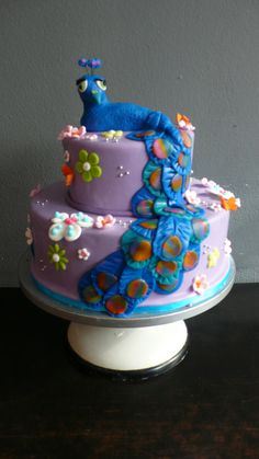 Peacock Birthday Cake Cakes Pinterest Birthday Cakes - Peacock birthday cake