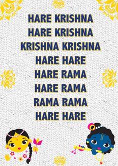 Cartaz com mantra hare krishna