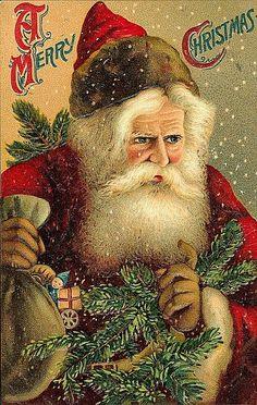 Vintage Hollywood Christmas  -  Christmas postcard